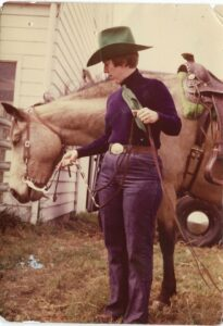 Sally with her mare Shamrock